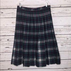 Pendleton NWT 18 Mackenzie Tartan Wool Pleat Skirt
